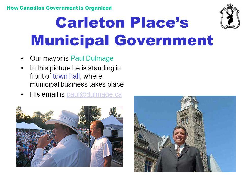 Carleton Place's Municipal Government