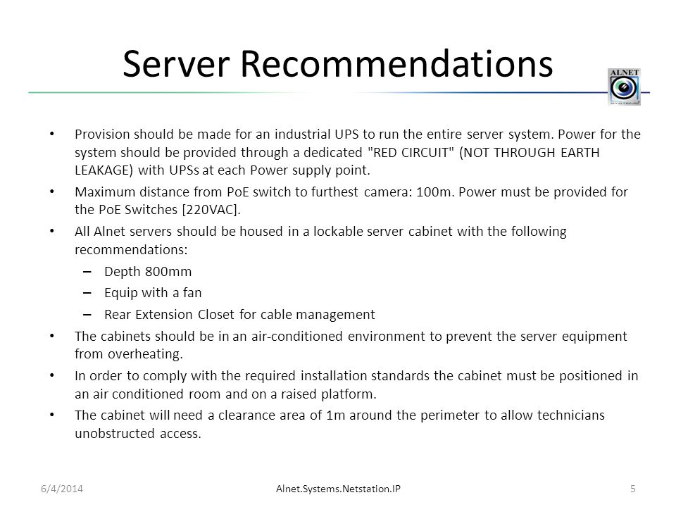 Server Recommendations