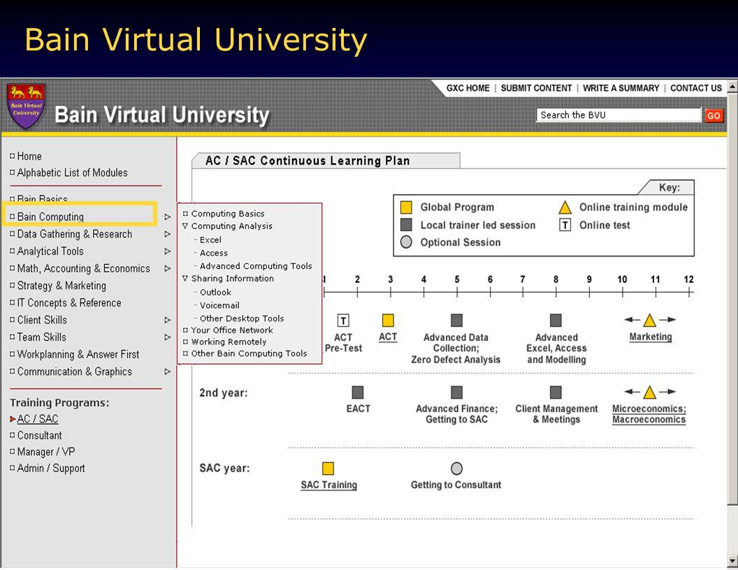 Bain Virtual University