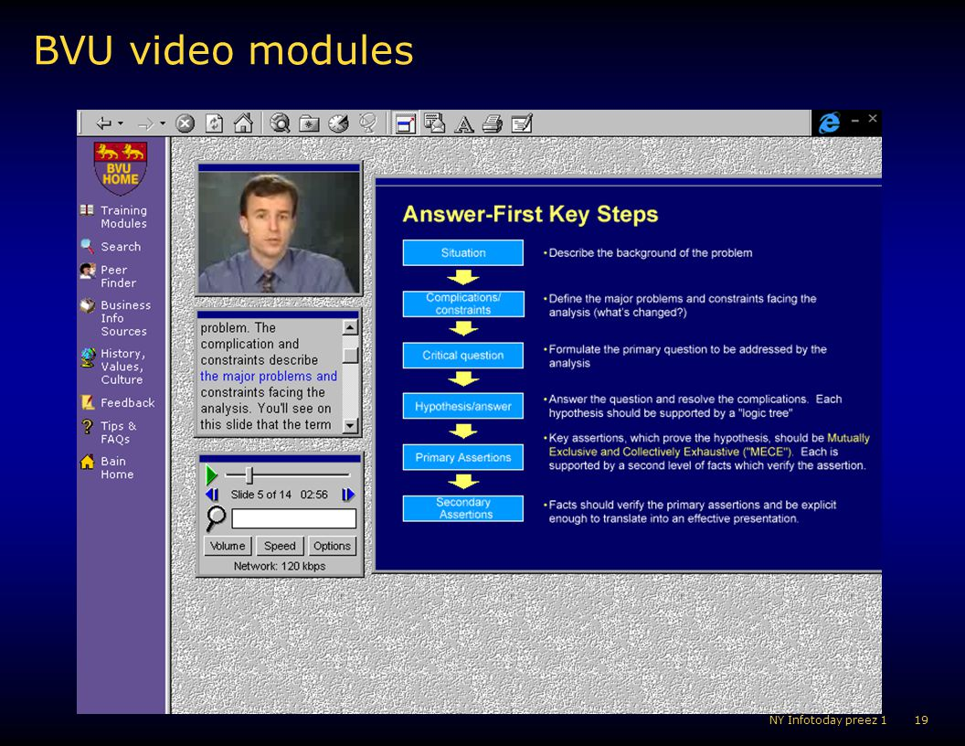 BVU video modules KM POV Aug 02 NY Infotoday preez 1