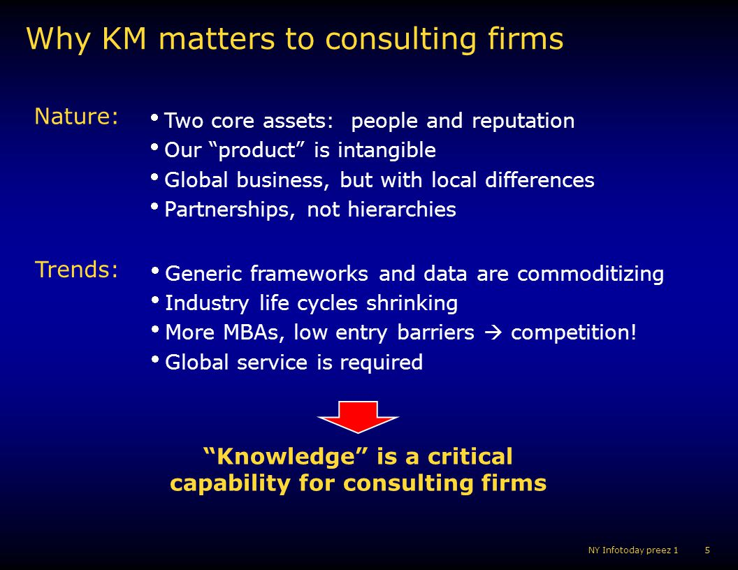 Why KM matters to consulting firms