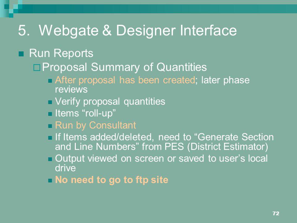 5. Webgate & Designer Interface