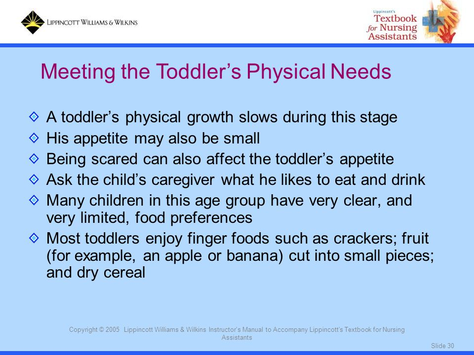 Meeting the Toddler's Physical Needs