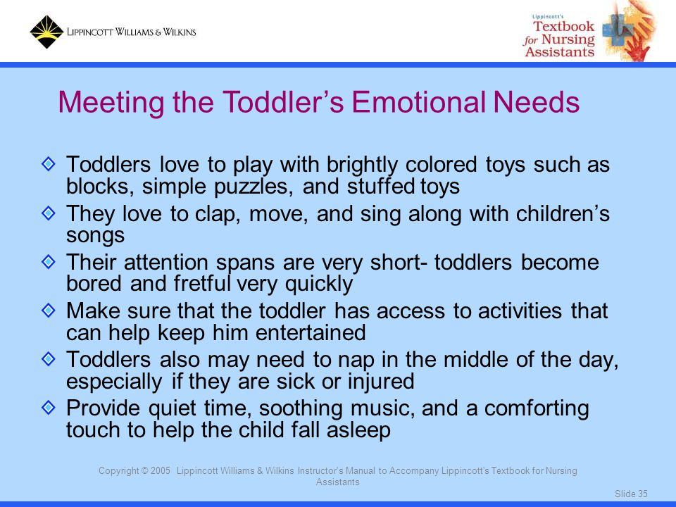 Meeting the Toddler's Emotional Needs