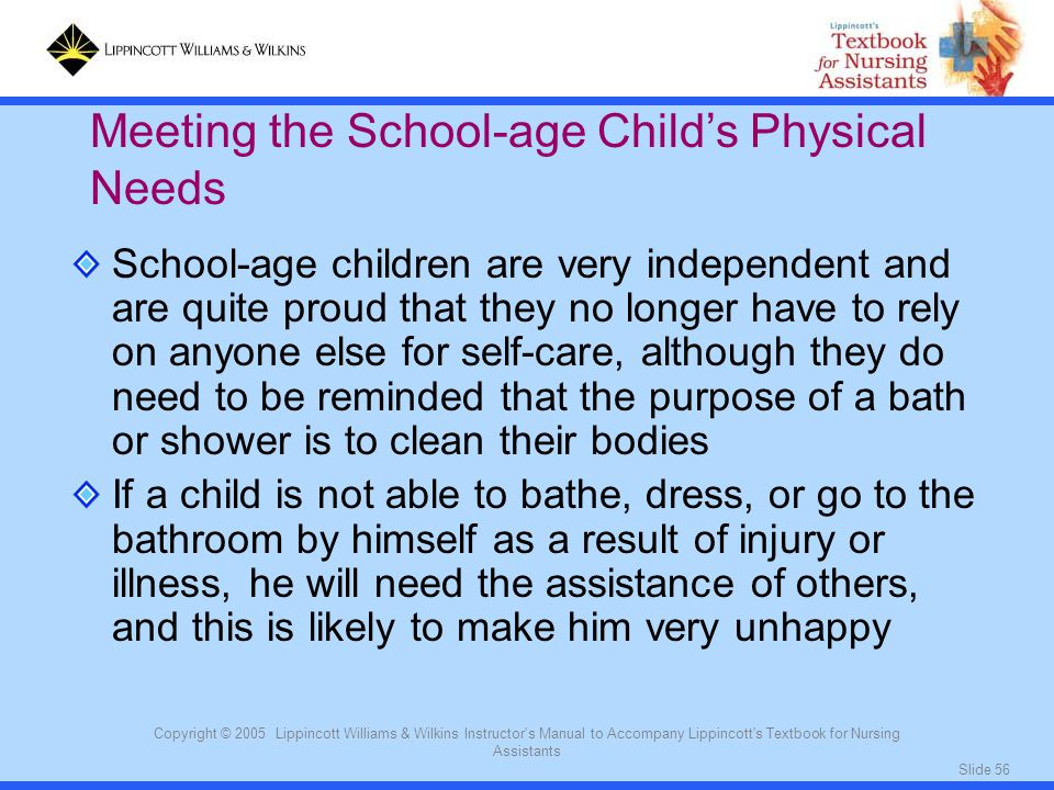 Meeting the School-age Child's Physical Needs