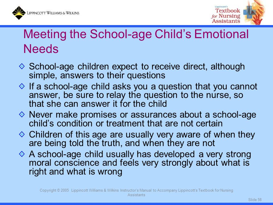 Meeting the School-age Child's Emotional Needs