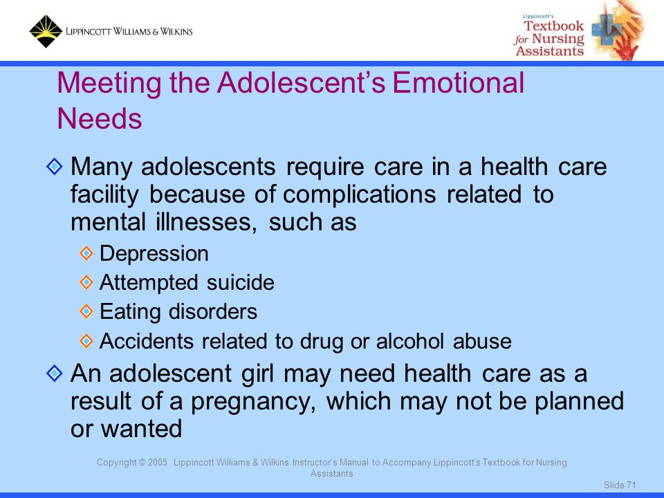 Meeting the Adolescent's Emotional Needs