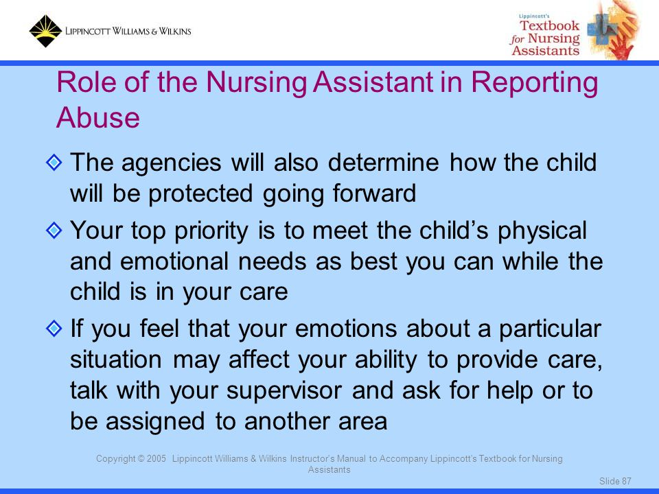 Role of the Nursing Assistant in Reporting Abuse
