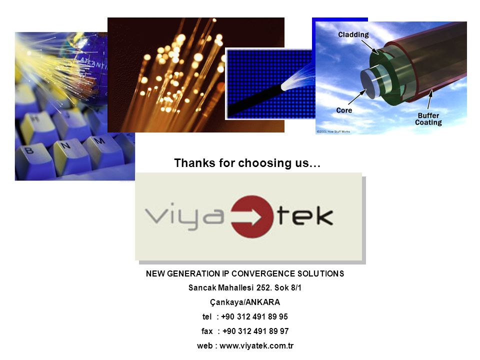 Thanks for choosing us… NEW GENERATION IP CONVERGENCE SOLUTIONS