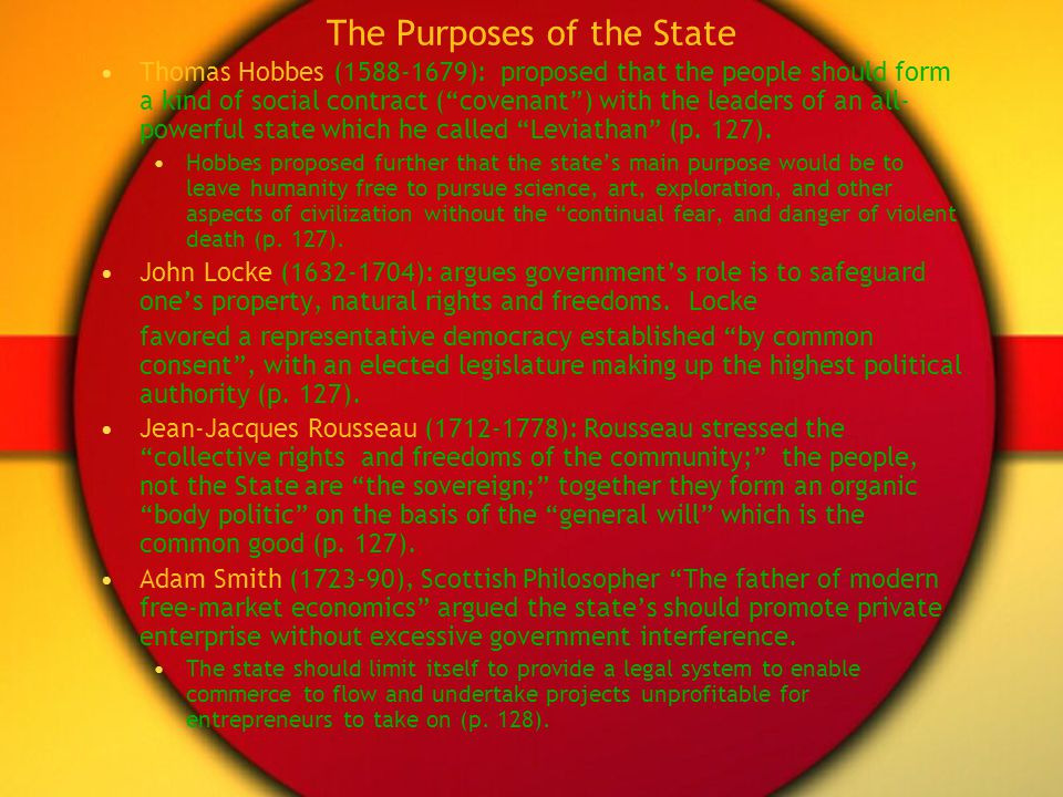 The Purposes of the State