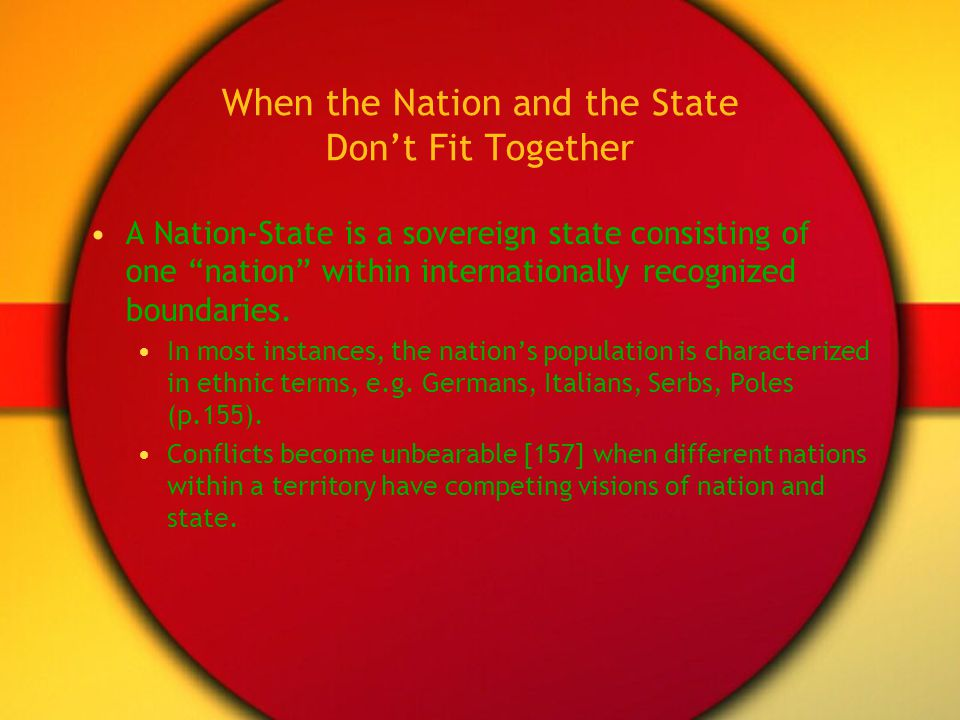 When the Nation and the State Don't Fit Together