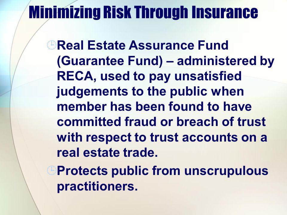 Minimizing Risk Through Insurance