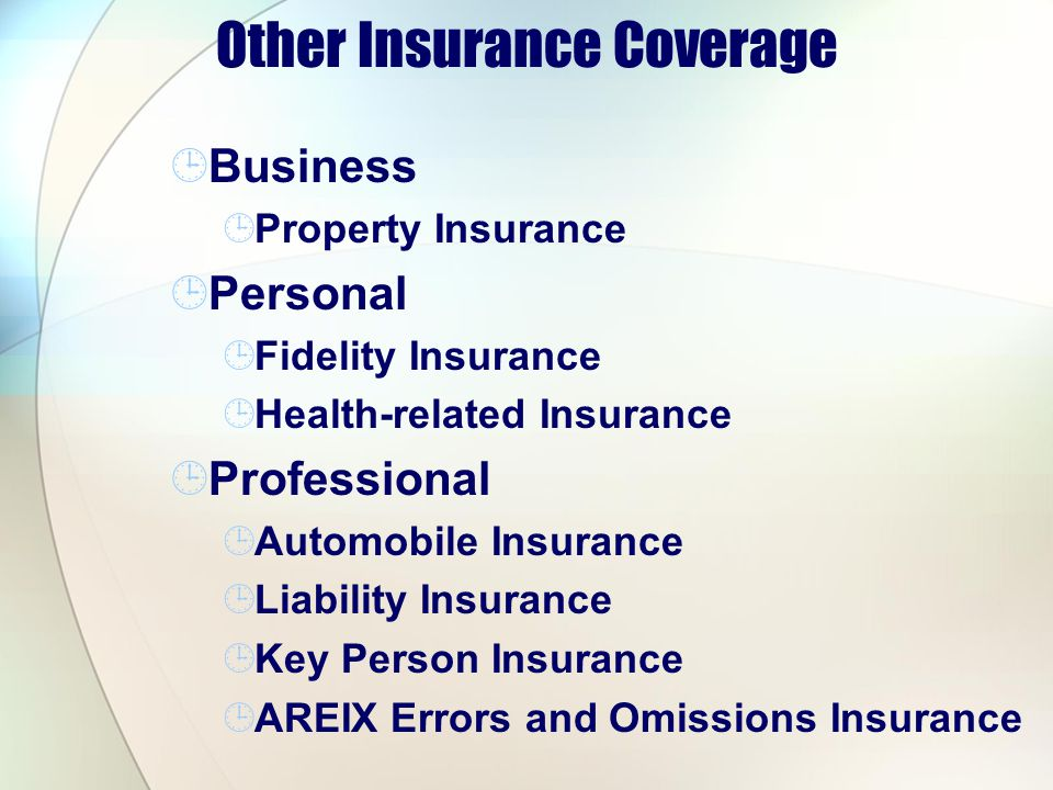 Other Insurance Coverage