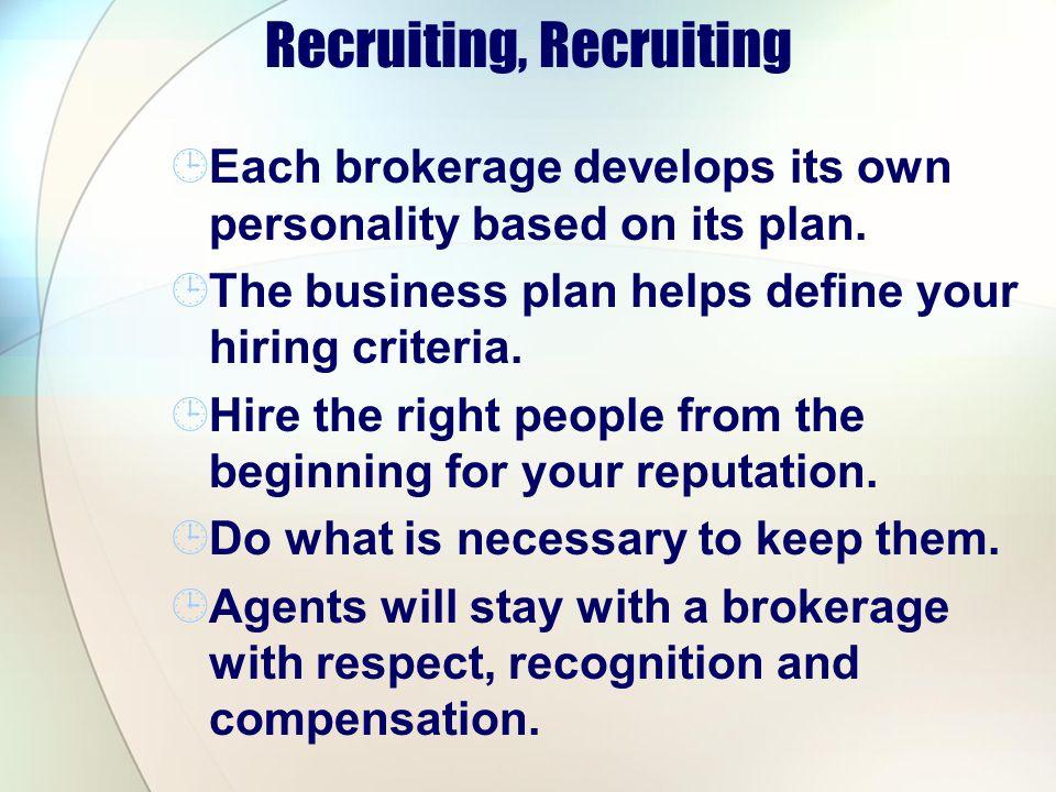 Recruiting, Recruiting