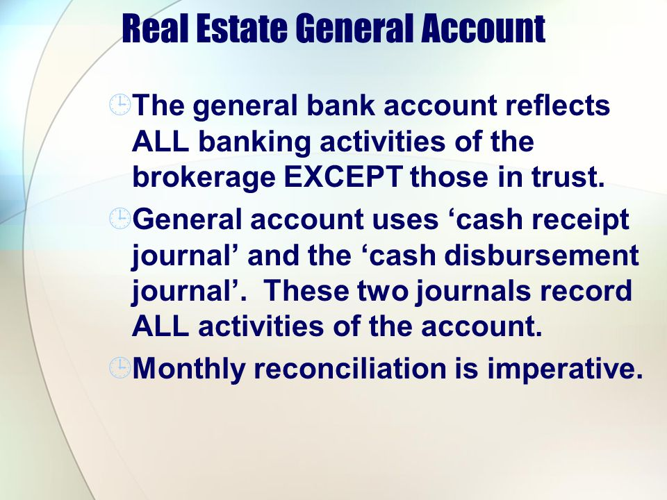 Real Estate General Account