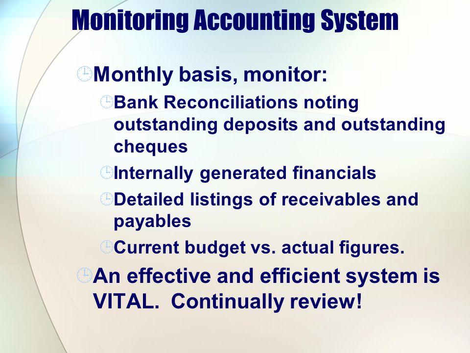 Monitoring Accounting System