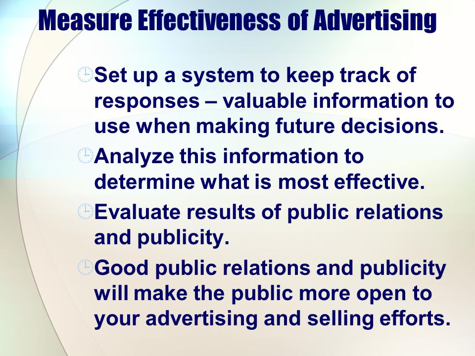 Measure Effectiveness of Advertising
