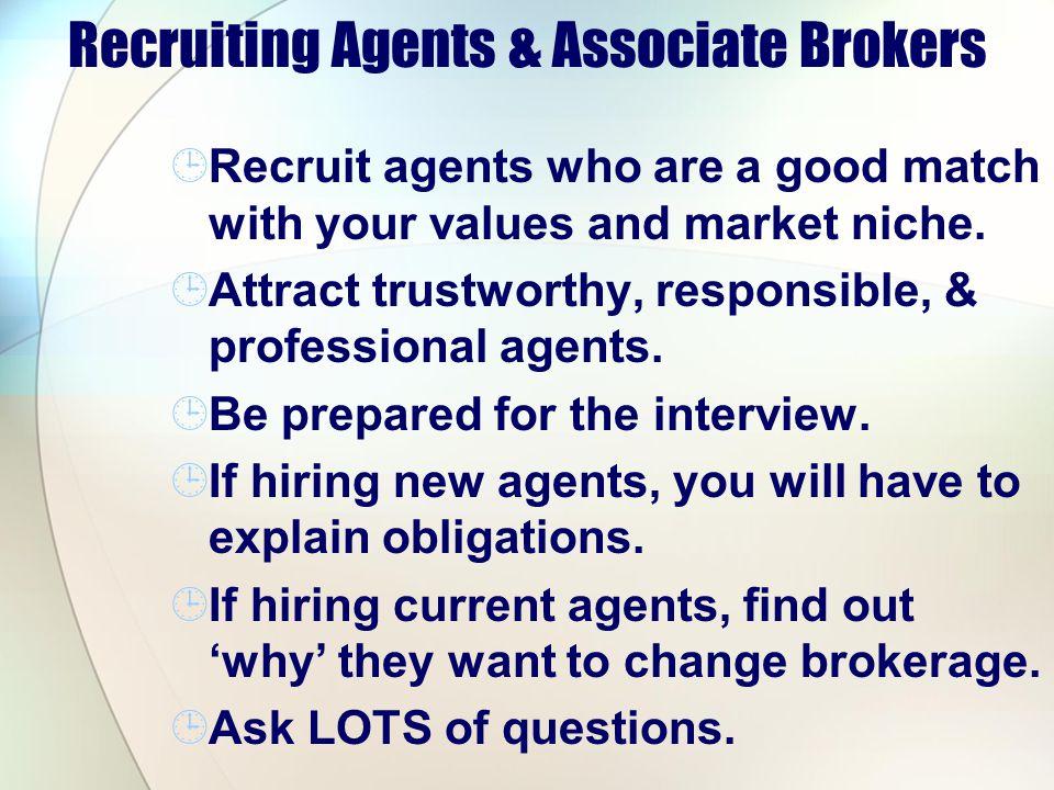 Recruiting Agents & Associate Brokers