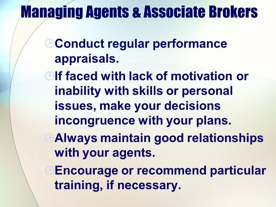 Managing Agents & Associate Brokers