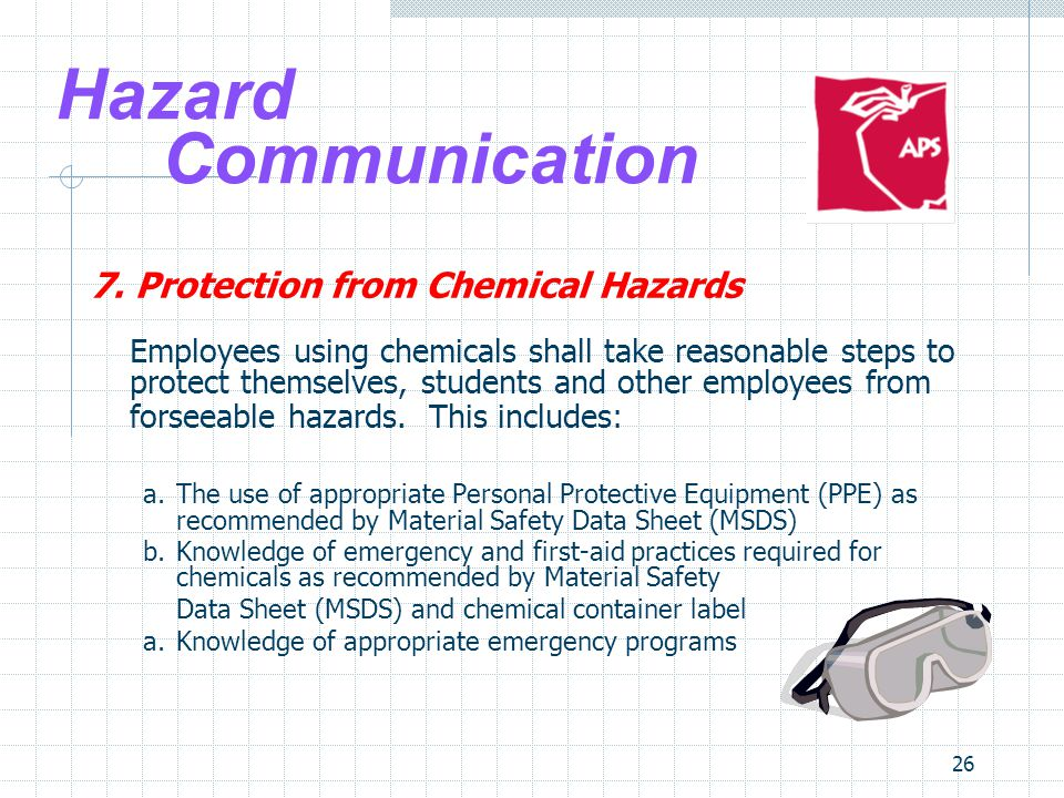 Hazard Communication 7. Protection from Chemical Hazards