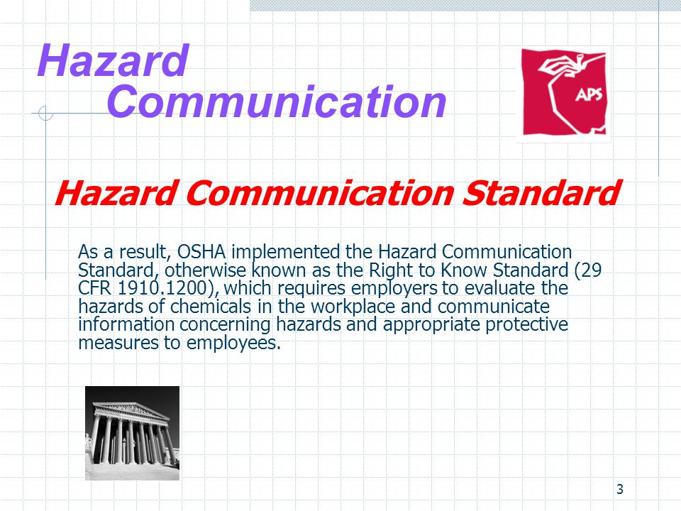 Hazard Communication Hazard Communication Standard