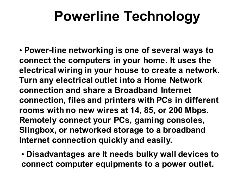 Powerline Technology