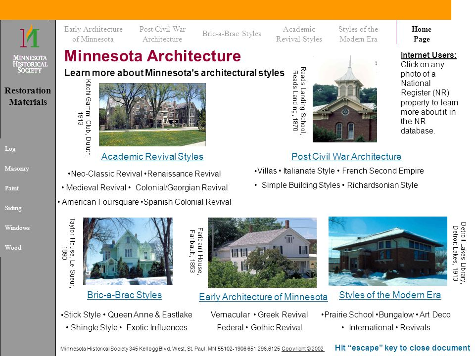 Minnesota Architecture