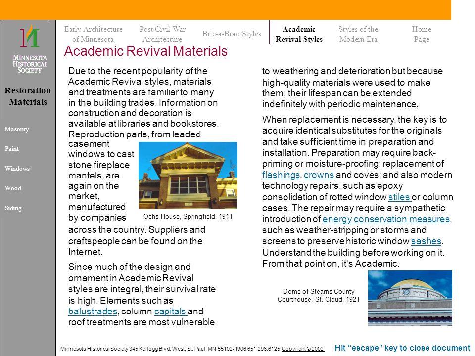 Academic Revival Materials