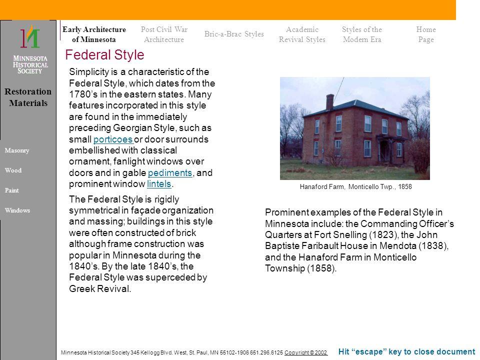 Hanaford Farm, Monticello Twp., 1858