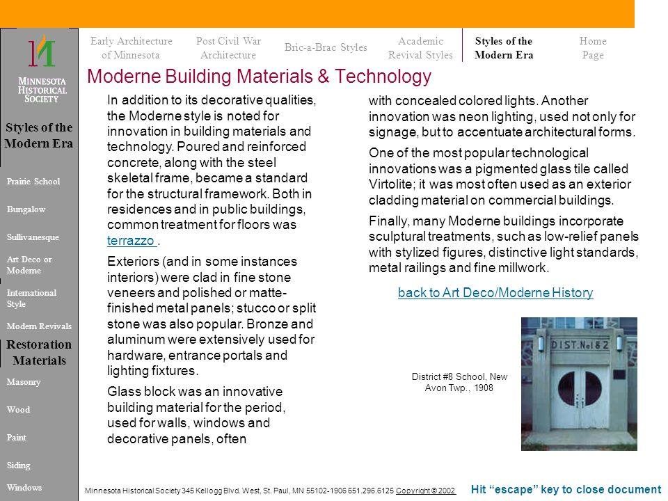 Moderne Building Materials & Technology