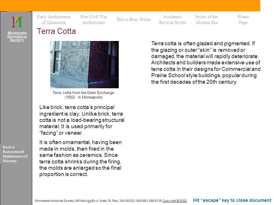 Terra cotta from the Grain Exchange (1902) in Minneapolis