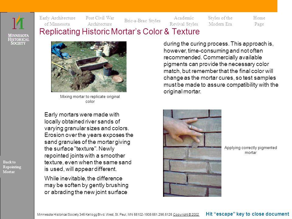 Replicating Historic Mortar's Color & Texture