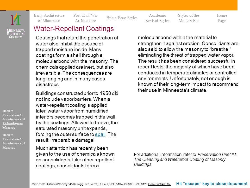 Water-Repellant Coatings