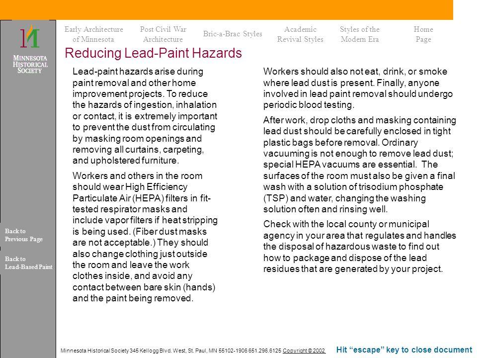 Reducing Lead-Paint Hazards