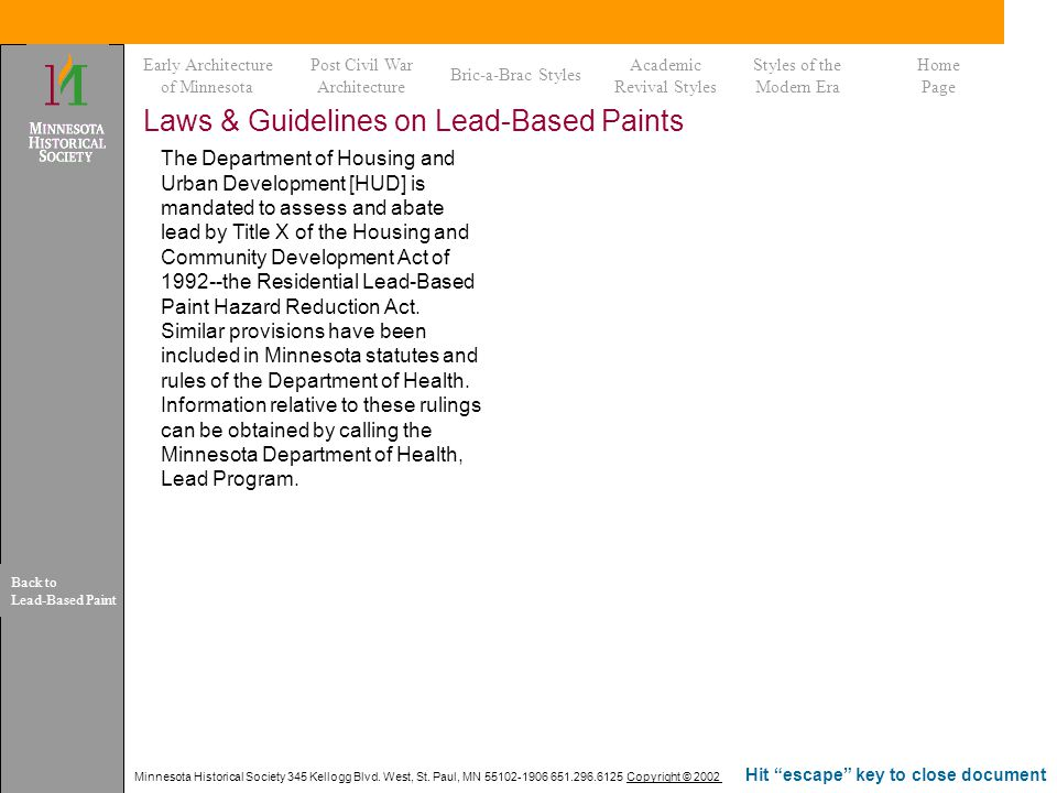 Laws & Guidelines on Lead-Based Paints