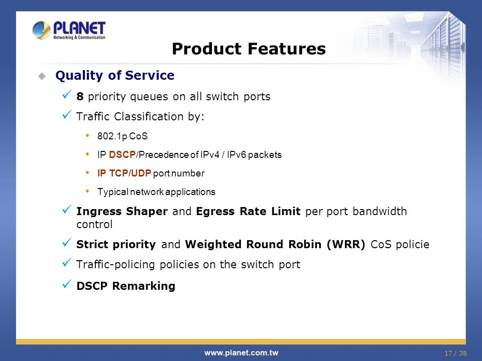 Product Features Quality of Service