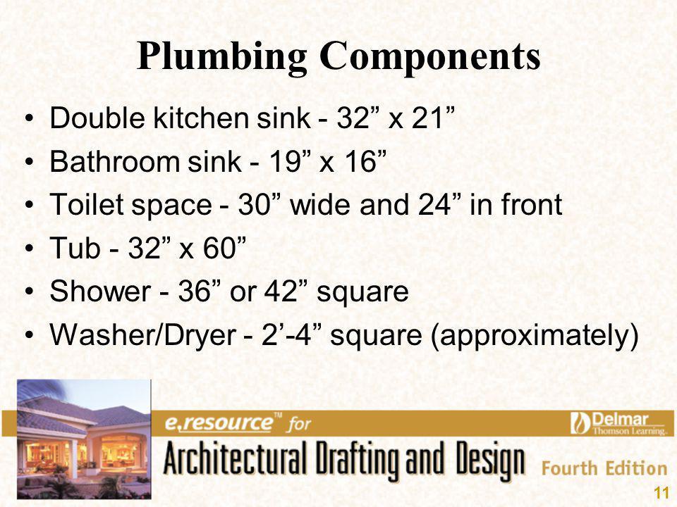 Plumbing Components Double kitchen sink - 32 x 21