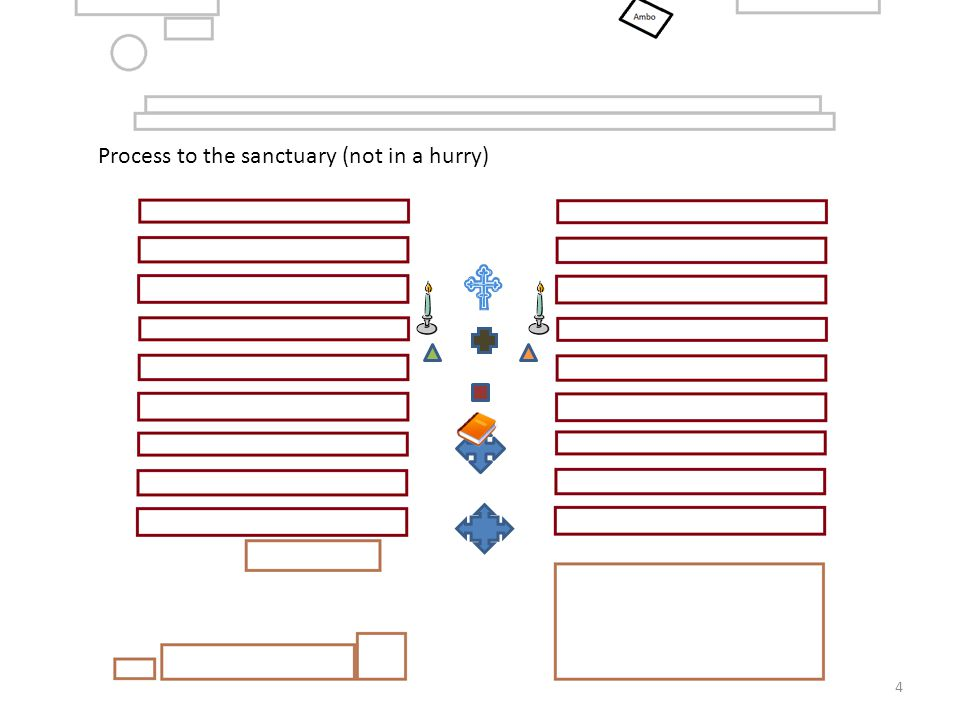Process to the sanctuary (not in a hurry)
