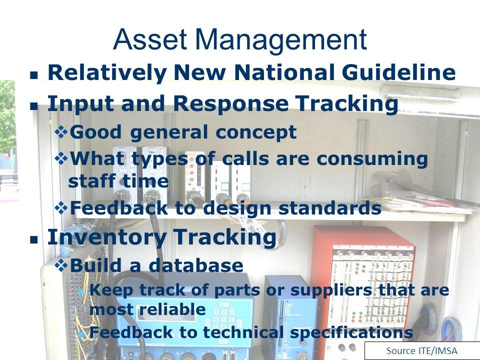 Asset Management Relatively New National Guideline