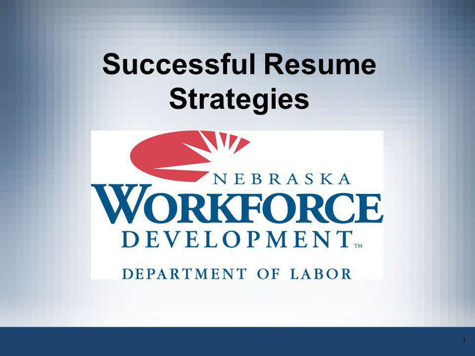 Successful Resume Strategies - ppt video online download