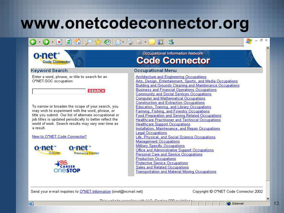 www.onetcodeconnector.org