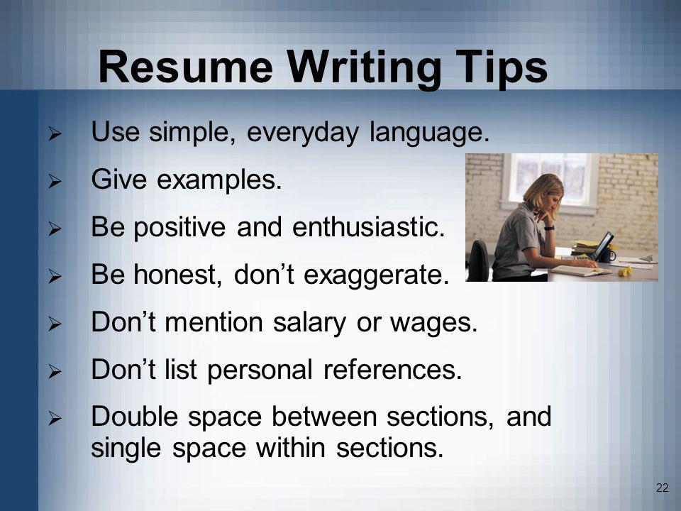 successful resume strategies ppt video online download