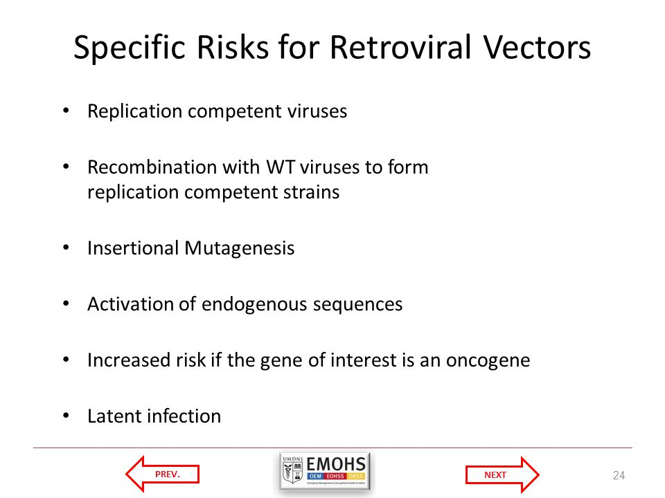 Specific Risks for Retroviral Vectors