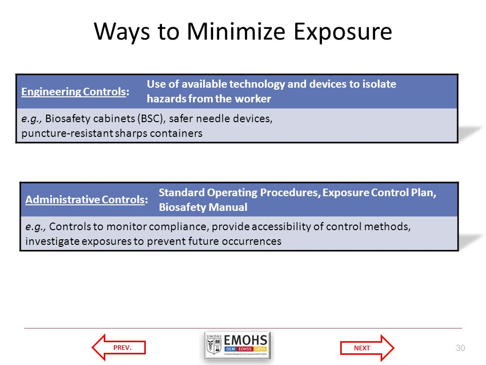 Ways to Minimize Exposure