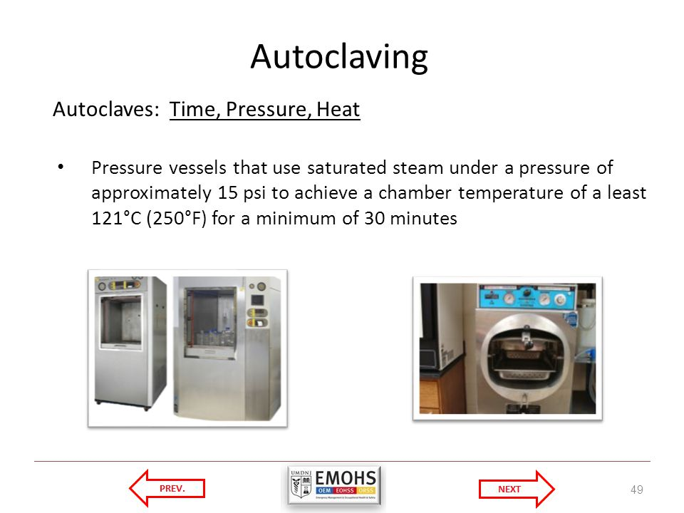 Autoclaving Autoclaves: Time, Pressure, Heat