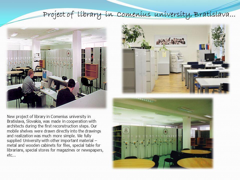 Project of library in Comenius university, Bratislava...