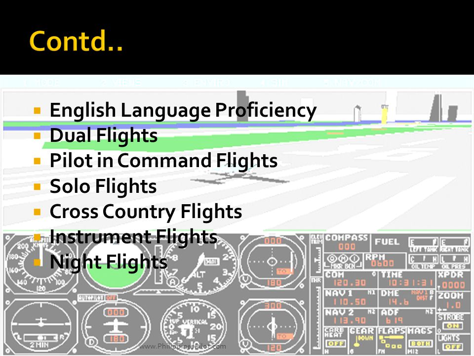 Contd.. English Language Proficiency Dual Flights
