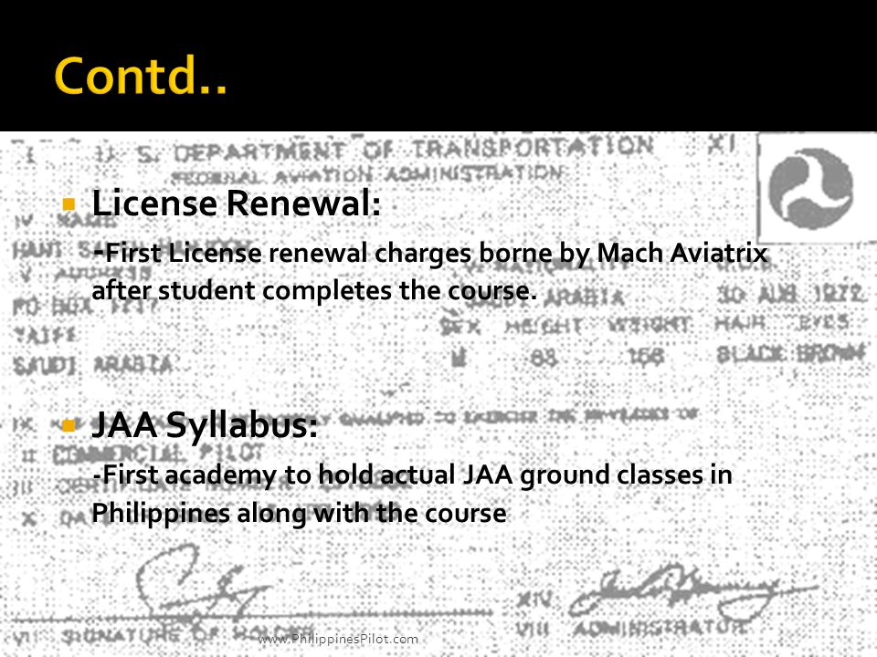 Contd.. License Renewal: