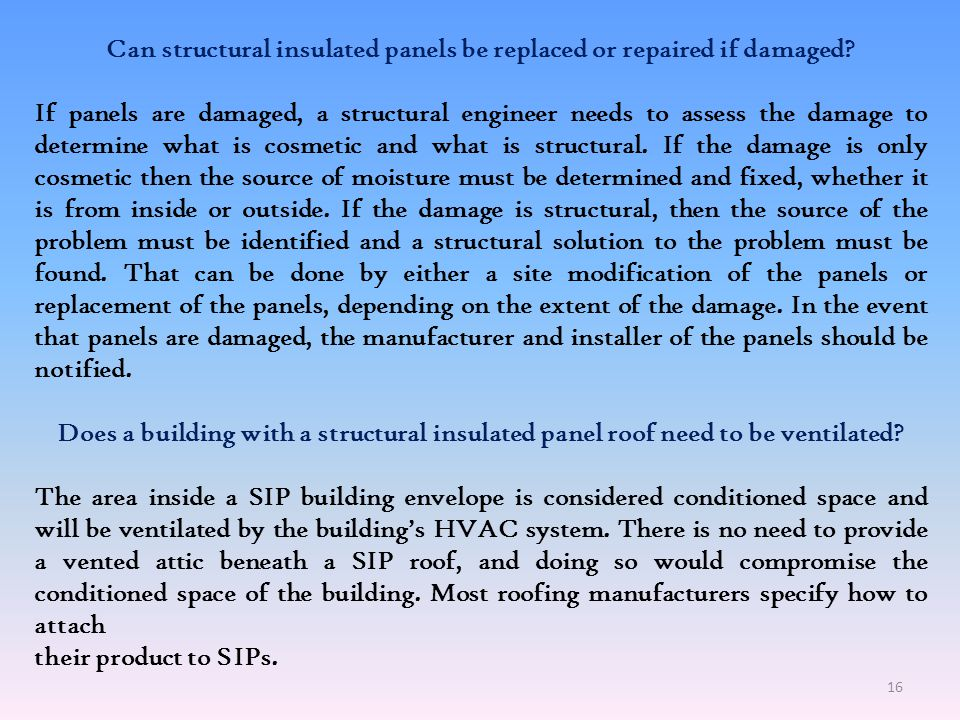 Can structural insulated panels be replaced or repaired if damaged