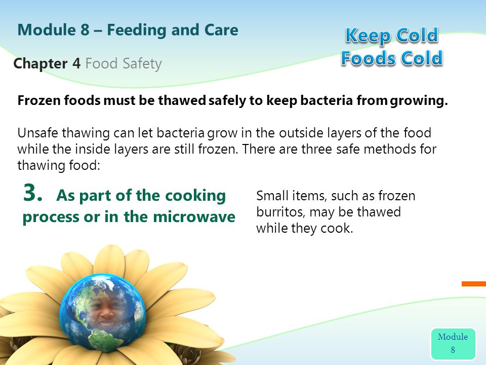3. As part of the cooking process or in the microwave